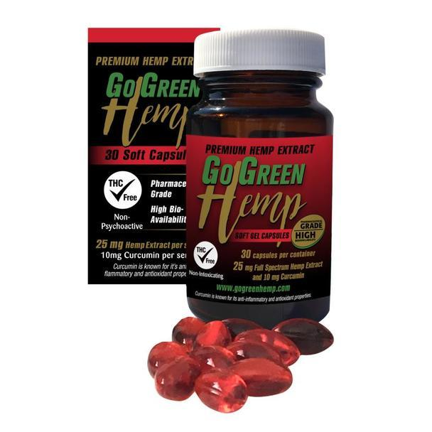 GoGreen Hemp Gel Capsules with Curcumin
