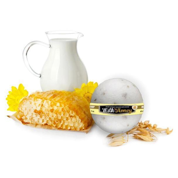 Milk and Honey CBD Bath Bomb