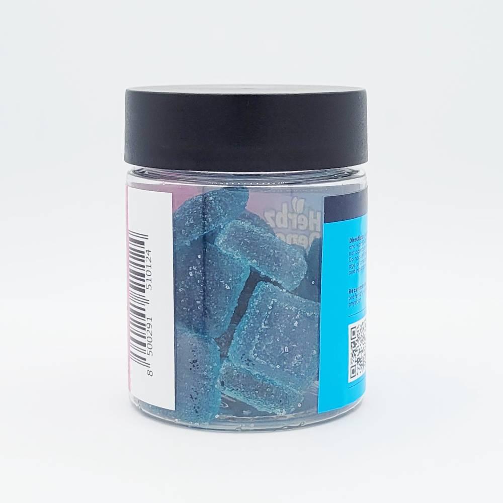 Blue Raspberry Squares 500mg back