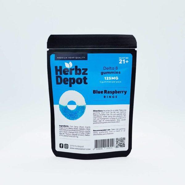 Delta 8 Blue Raspberry Rings 125mg