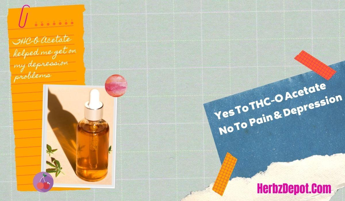 THC-O Acetate products or supplements